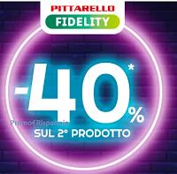 Logo Pittarello : sconto - 40% sul 2° prodotto meno caro