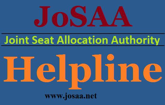 JoSAA Helpline Number