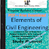 Elements of Civil Engineering PDF Study Materials cum Notes, Engineering E-Books Free Download