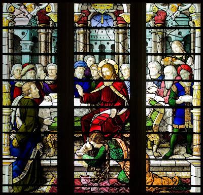 Imagem de Maria de Betânia ungindo Jesus Cristo, vitral, #1
