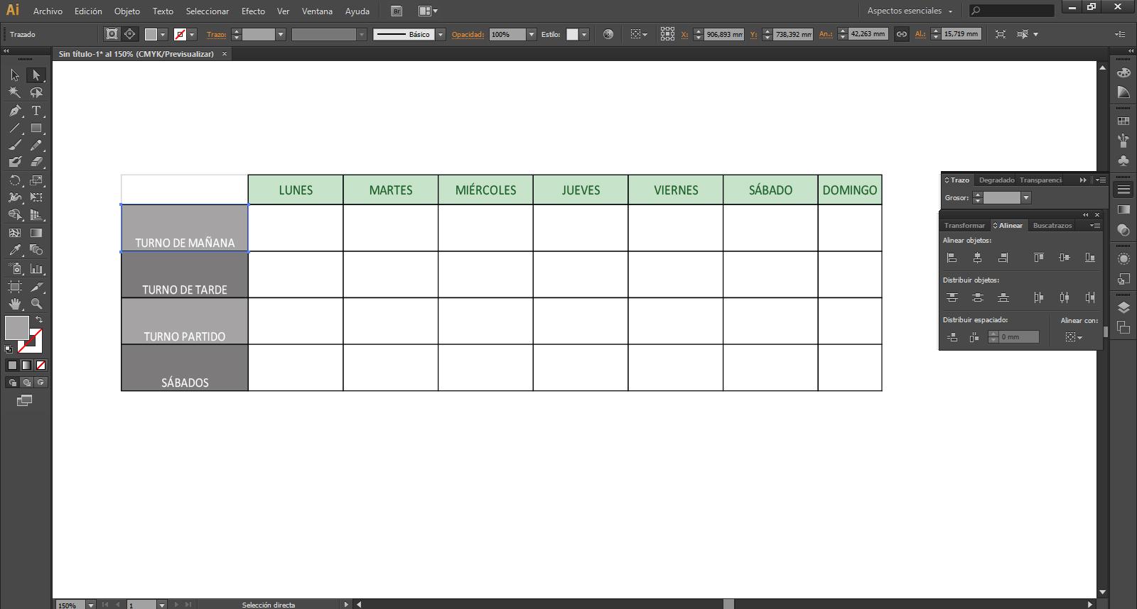 Como crear una tabla en Illustrator | El Mejor Blog de Impresión Digital