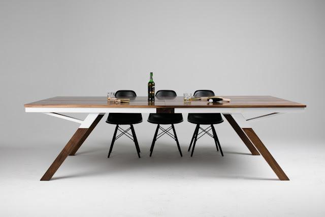 Scrivania o tavola da pranzo che si converte in tavolo da ping pong