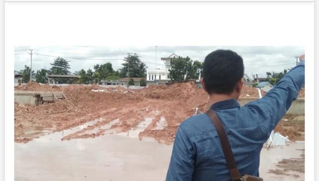 Dua Tahun APBD OI Dikuras, Proyek Taman Tak Kunjung Rampung