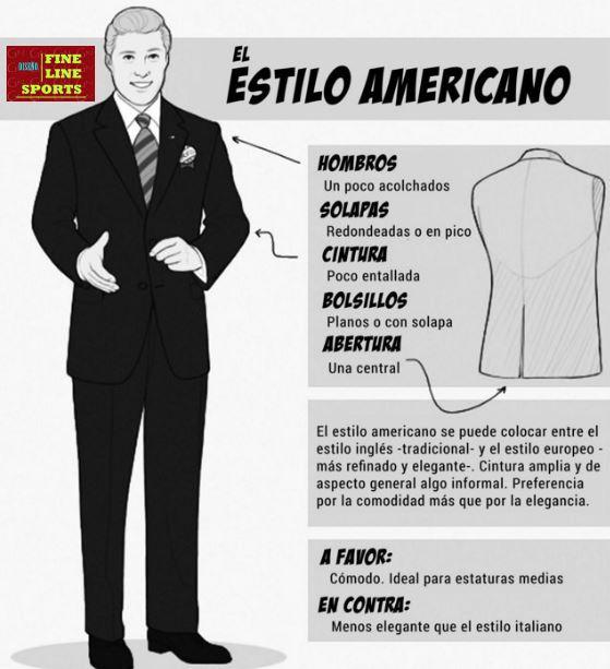 El Estilo Americano es un tipo de traje que resalta sobretodo por su  comodidad 2009622e40d
