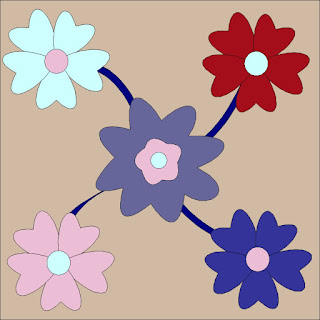 Applicatie blok bloemen