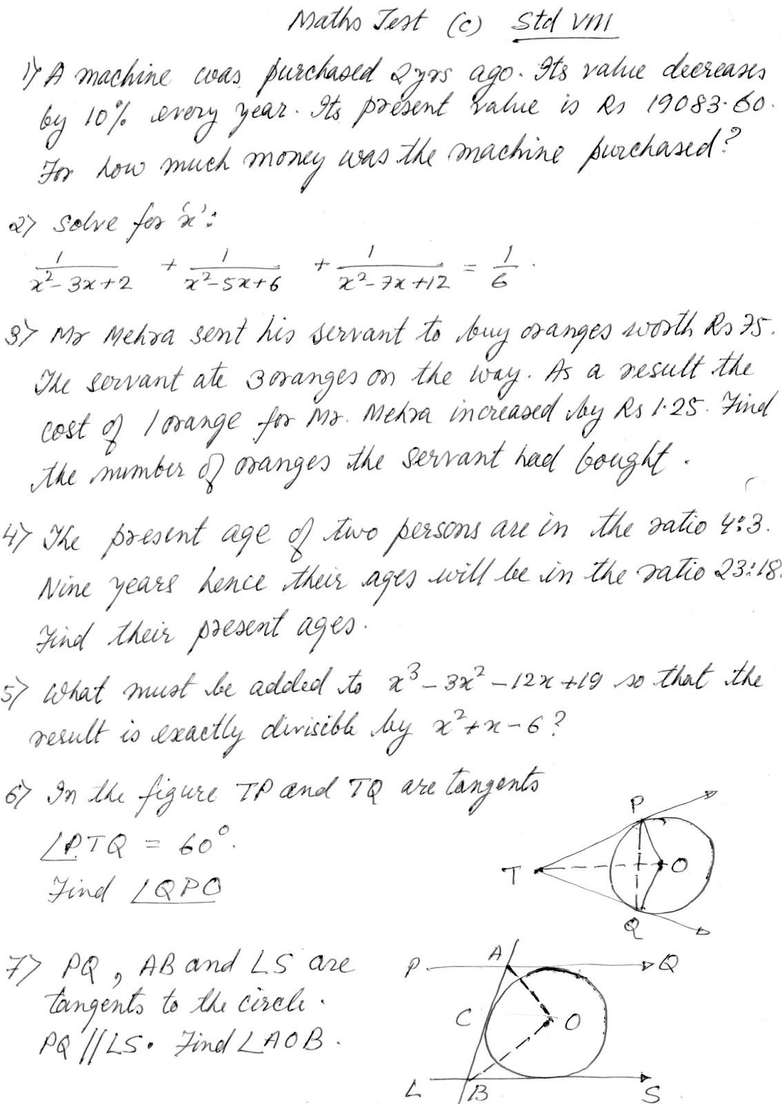 Practice paper std viii also preparations for ipm mtse olympiad mat scholarshipcbse icse rh state scholarshipspot