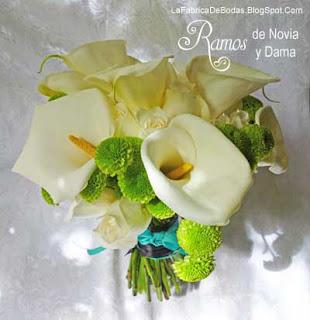 Floristeria para bodas comprar ramo colores aqua turquesa y negro con cartuchos y verde en guatemala