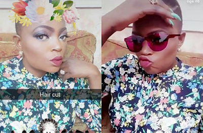 Photos Funke Akindele new low cut