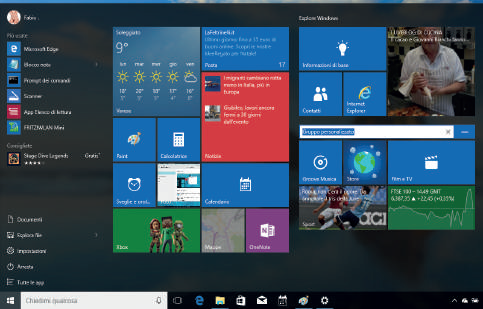 Come personalizzare nomi gruppi menu start Windows 10