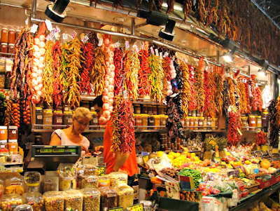 Spices in La Boqueria