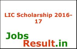 LIC Scholarship 2016-17