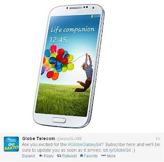Samsung Galaxy S4 Globe Telecom