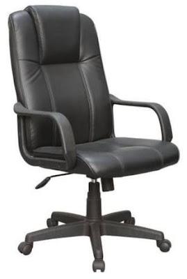 Foto da Cadeira Presidente Pelegrin Em Couro Pu Preta PEL-229H