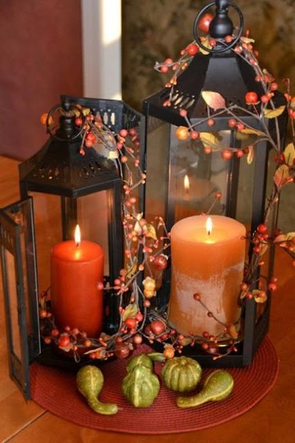 fall lantern centerpieces