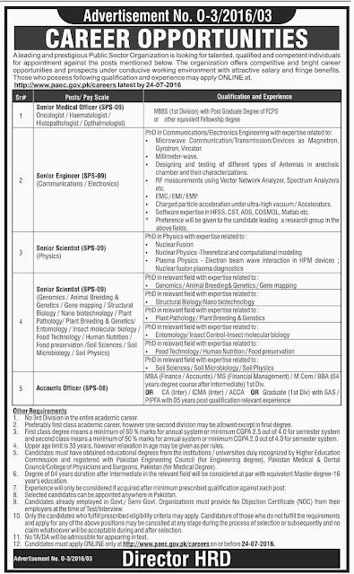 Job Vacancies in Public Sector Organization 21 December 2018