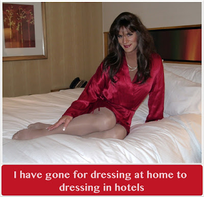 From Home Dressup to do it in hotels - Sissy TG Caption
