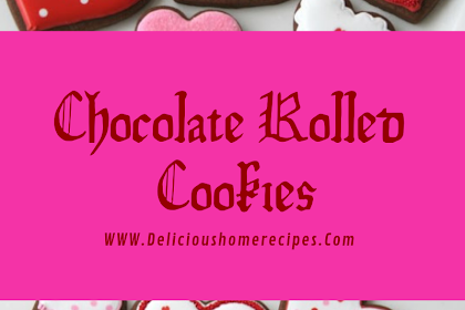 Chocolate Rolled Cookies #valentine #cookies