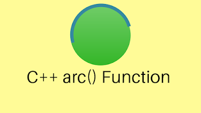 C++ arc() Function - Draw a Curve or Circle