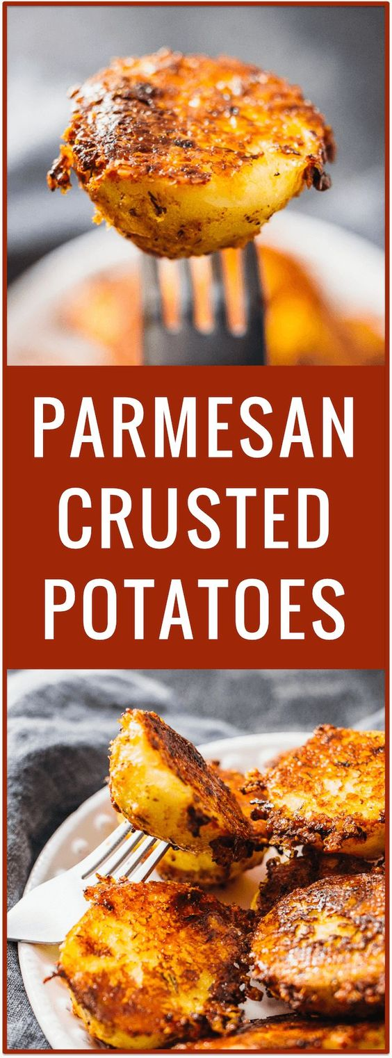 Extra Crispy Parmesan Crusted Potatoes Recipe