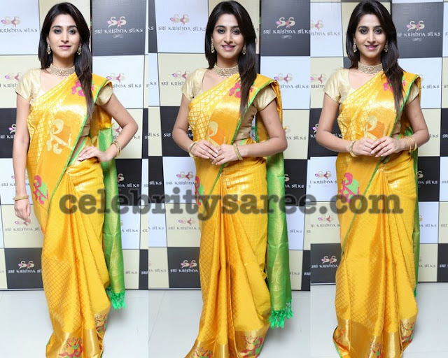 Varshini Sounderajan Yellow Bridal Saree
