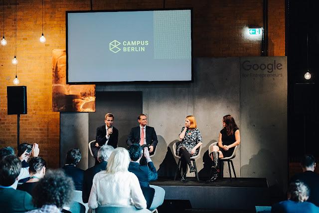 Foto der Pressekonferenz Eröffnung Campus Berlin mit Panelgästen.