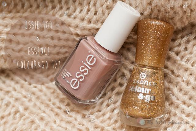 NOTD # 12 - Essie Lady Like z nutką złota