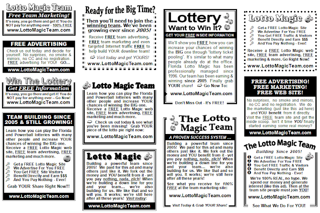 Team Lotto Magic marketing and advertising for 2013
