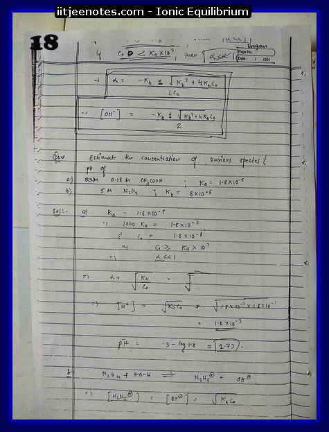 Ionic Equilibrium Notes2