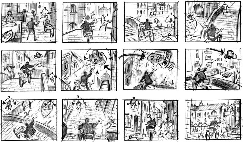 videogame-storyboard+james+bond+videogame+kieron+dwyerjpg (977 - film storyboards