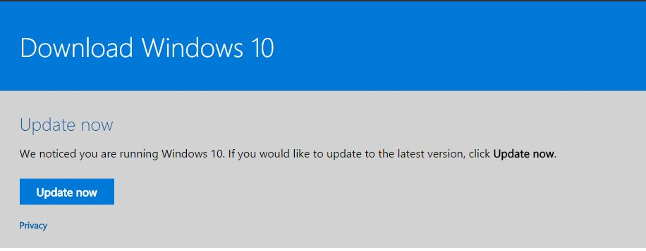 Update to Windows 10 creators update manually if you are