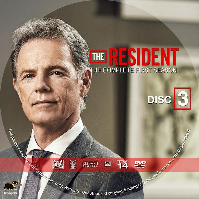 The Resident Season 1 Disc 3 DVD Label