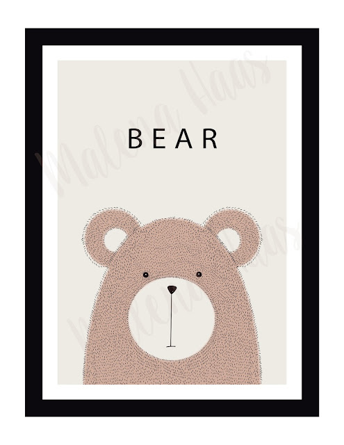 Free Woodland Animal Printables - Bear