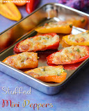 Paneer stuffed mini peppers recipe