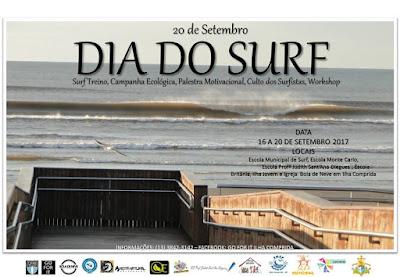 Ilha comemora dia do surf com surf treino, campanha ecológica, palestra, culto e workshop