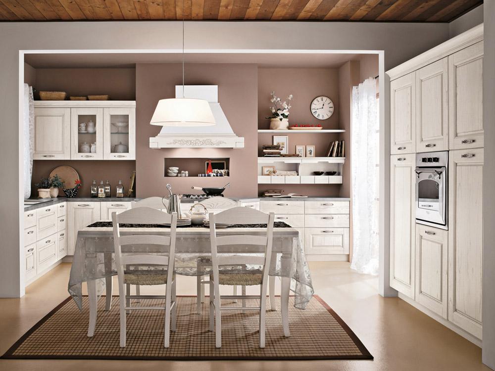 La cucina di oggi bella e pratica shabby chic interiors - Cucina provenzale bianca ...