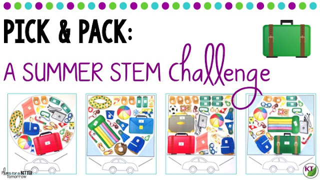 Summer STEM Challenge: In Pick & Pack, students arrange items with different point values into pre-defined car trunk spaces. They can't have it all, though! They'll use a criteria & constraints list to bring all of what they need and some of what they want, as they aim for the highest point value! Includes modifications for grades 2-8.