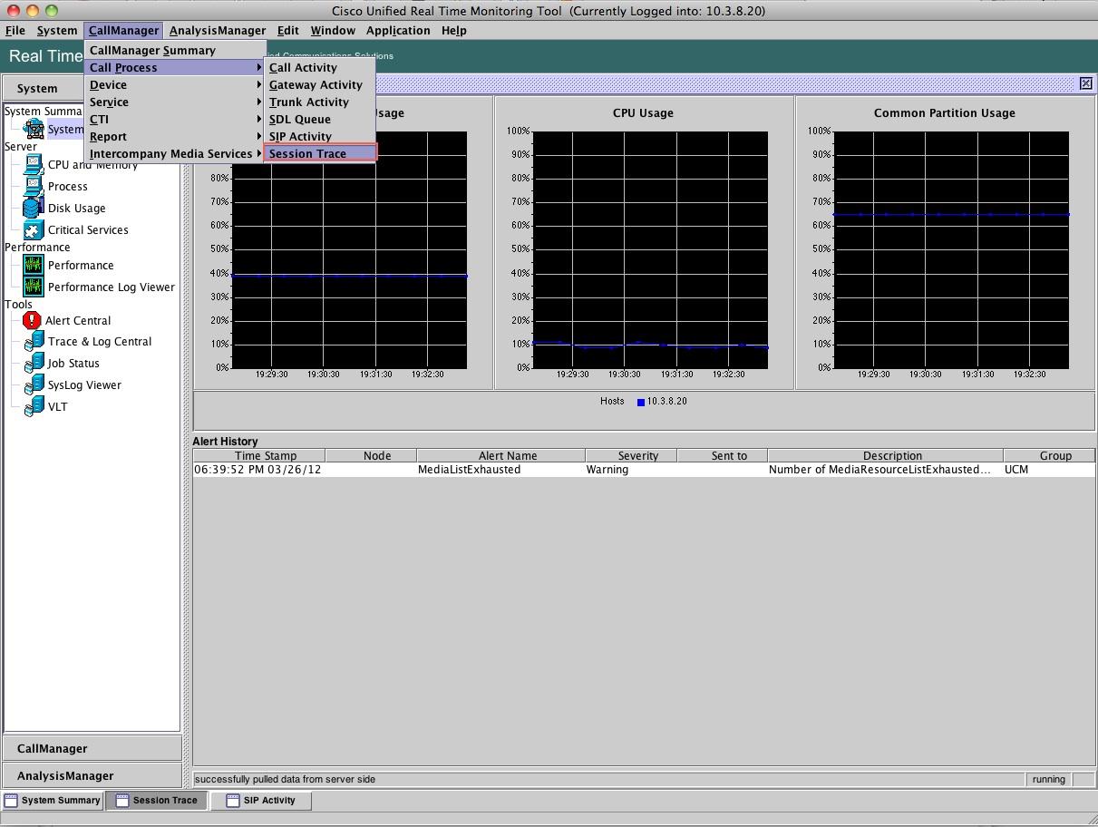 Unified Communications Guerrilla: Cisco CUCM RTMT Session Trace