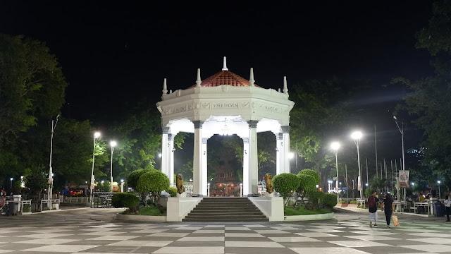 bacolod city plaza at night