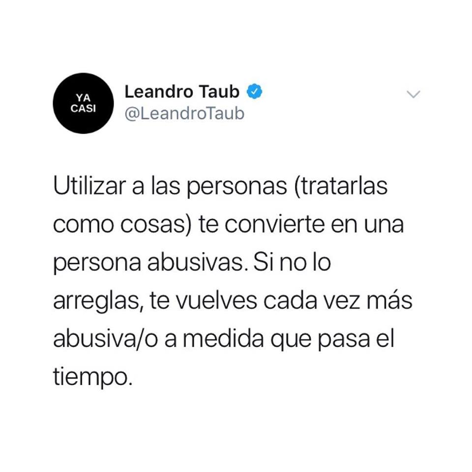 Leandro Taub: Personas abusivas