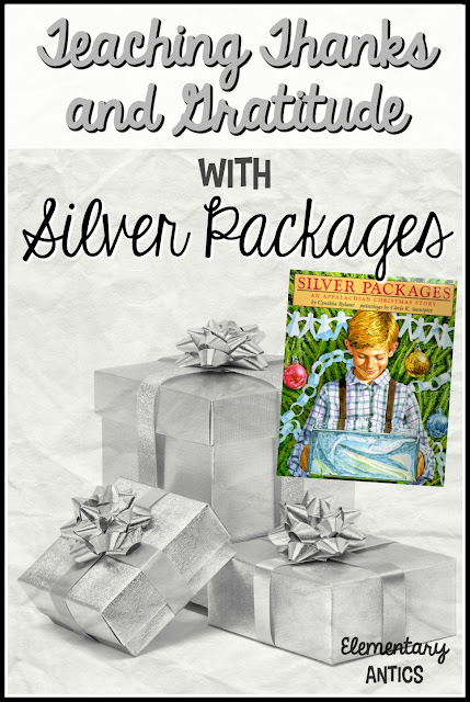 Teach gratitude and thankfulness this Christmas with the book Silver Packages by Cynthia Rylant.