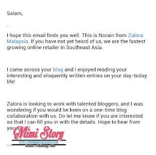 INVITATION TO COLLABORATE WITH ZALORA MALAYSIA