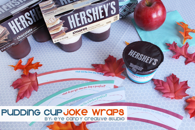 Hershey's pudding, fall jokes, kids lunch ideas, snack ideas for kids