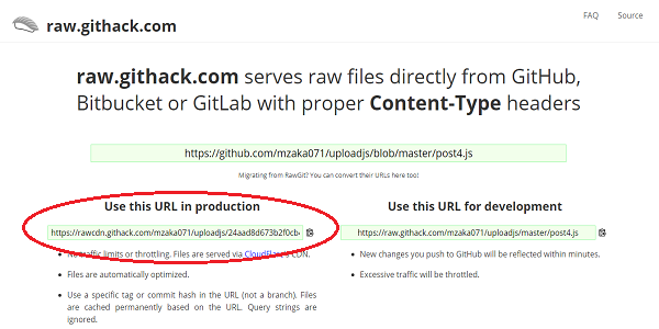 upload js di Github
