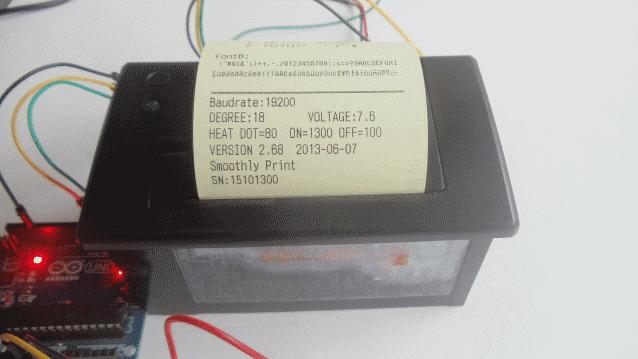 Autoteste impressora térmica