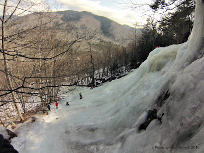 Frankenstein cliffs, crawford notch, ice climbing