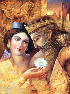 Amytis y Nabuconodosor se despiden para siempre de vosotros. Espero que os haya gustado. Muchas gracias, amigos lectores.