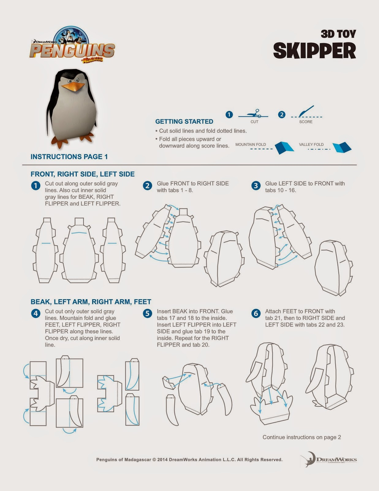 Penguins of Madascar Printables