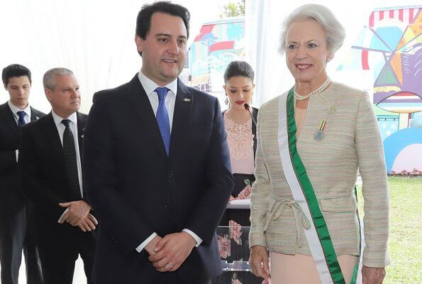 Princess Benedikte visited Curitiba city in the Brazilian state of Parana to open the headquarters of the Princess Benedikte Institute