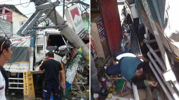 18-wheeler truck hits electric pole, drags 2 to death in Cavite