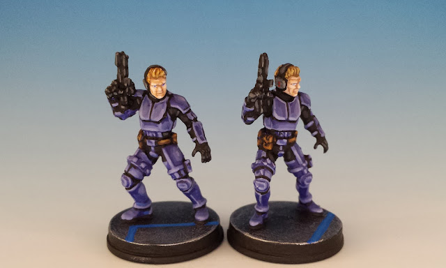 ISB Infiltrators, FFG Imperial Assault (sculpted by D. Ferreira, 2016)